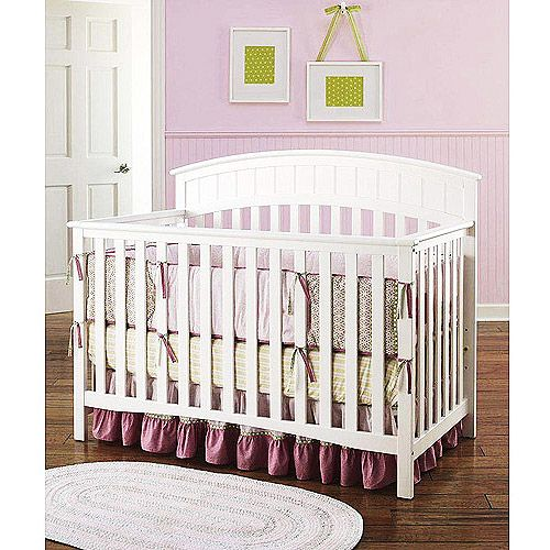 Graco Charleston 4 in 1 Convertible Crib White