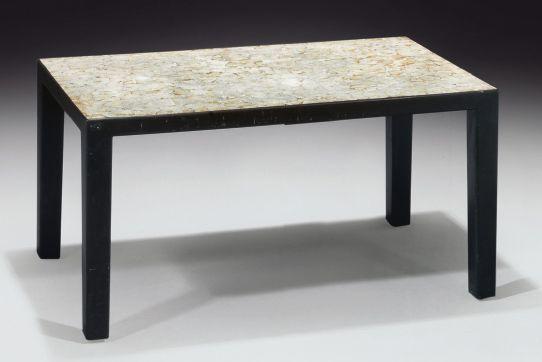 jean dunand exceptionnelle table basse rectangulaire en bois laqu noi tables and jeans. Black Bedroom Furniture Sets. Home Design Ideas