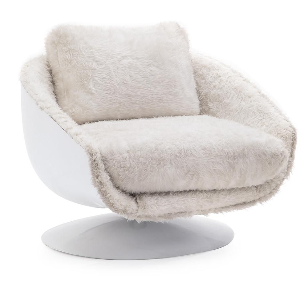 Superb White Fuzzy Swivel Chair In 2019 Scandinavian Dining Alphanode Cool Chair Designs And Ideas Alphanodeonline