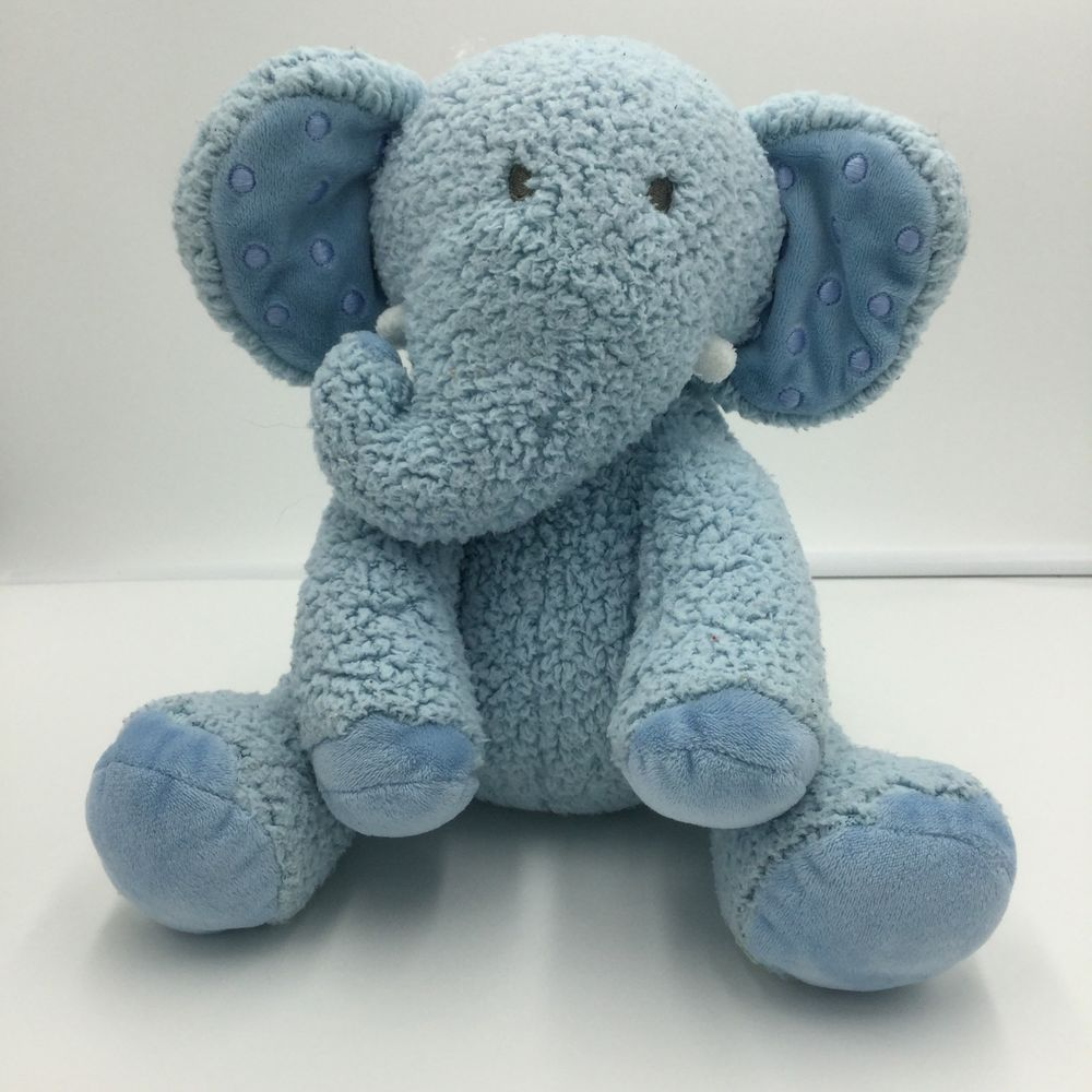 Hallmark Lil Dewberry Blue Elephant Baby Sherpa Plush 9 Polka Dot Ears Toy Hallmark Baby Elephant Blue Elephants Baby Plush
