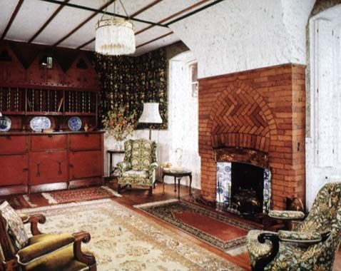 The red house interior the red house 1859 60 - Arts and crafts home interior design ...