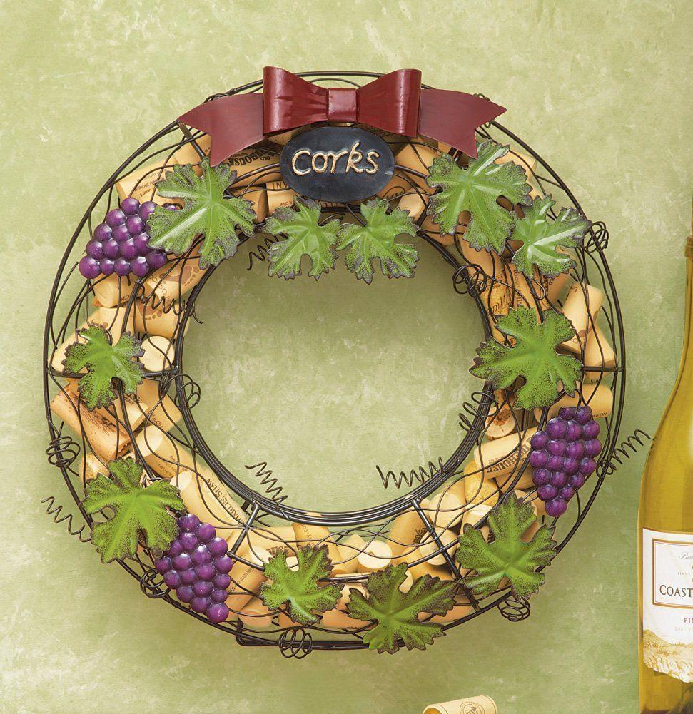Wine Cork Hanging Door Wreath   House decor   Pinterest   Door ...
