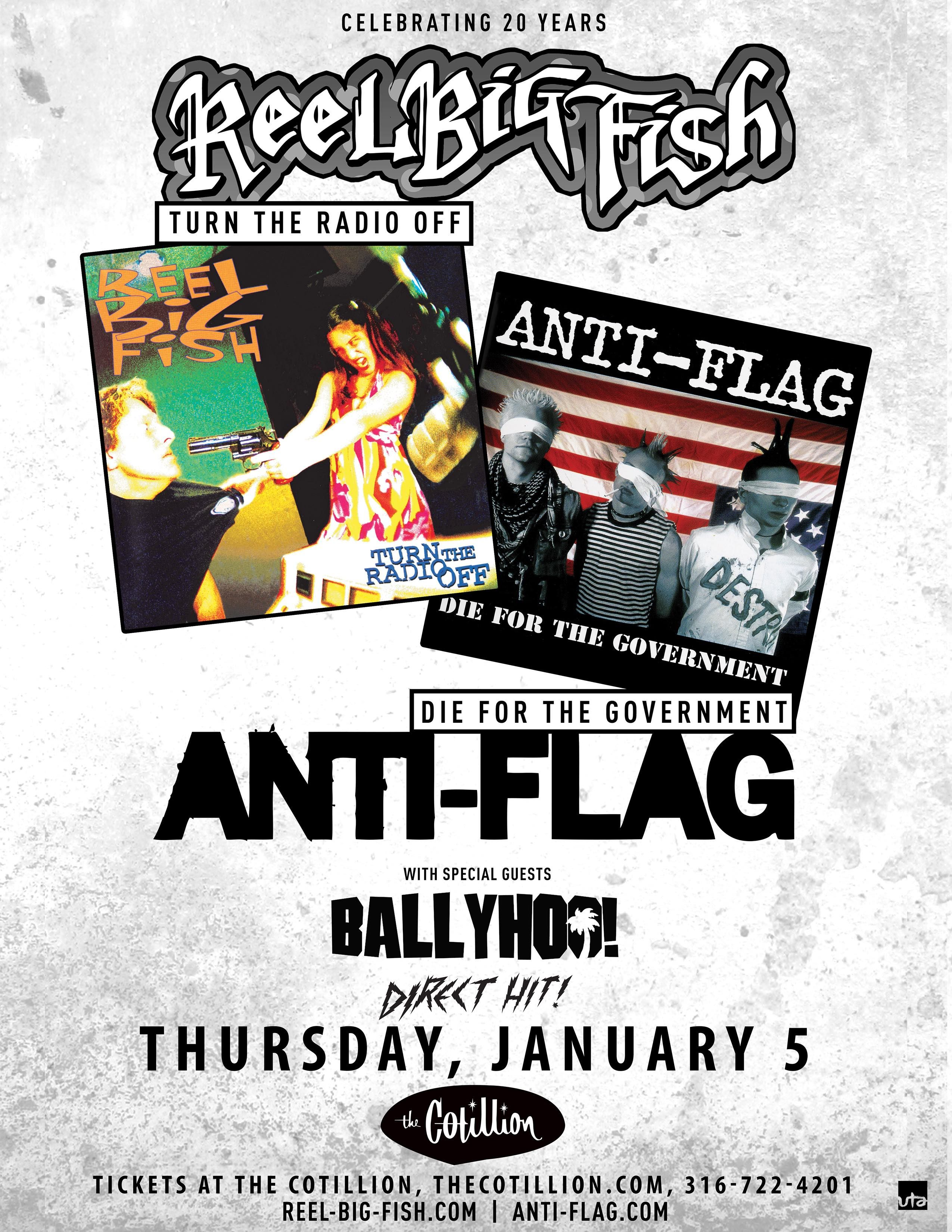 Reel Big Fish Were One Of The Legions Of Southern California Ska Punk Bands To Edge Into The Mainstream Following The Mid 90 Anti Flag Concert Flyer Pop Songs