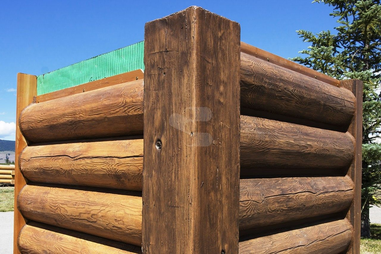 8 Quot Round Everlog Concrete Log Siding Left Side Chinkless