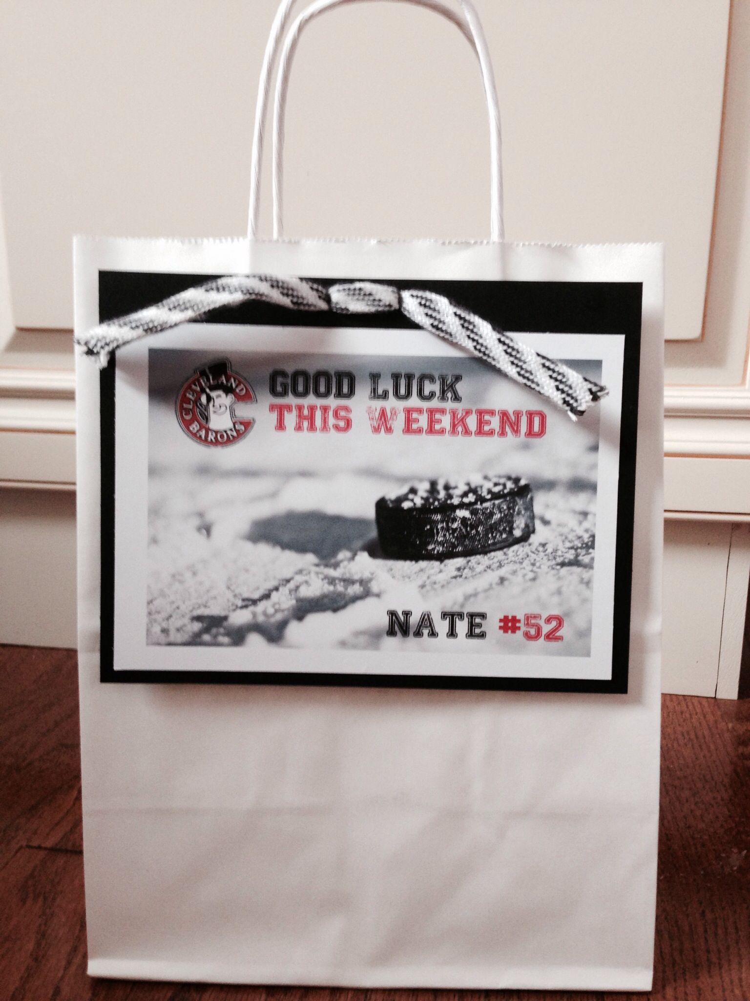 Hockey treat bags for out of town tournament. | Hockey Tourney ...