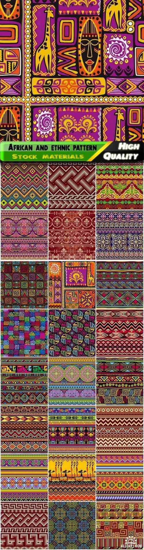 Abstract african and ethnic seamless pattern and ornament - 25 Eps