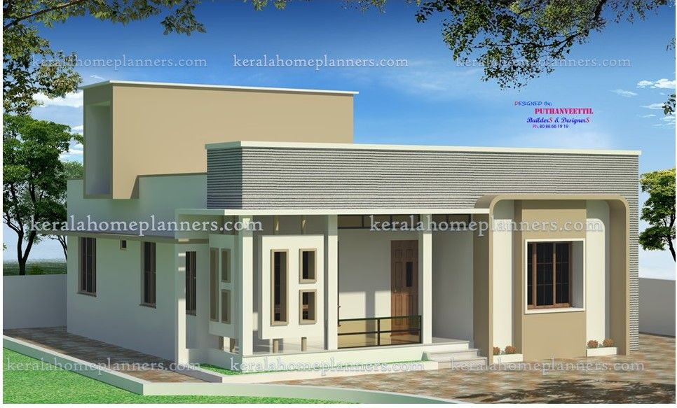 Nice Beautiful 3 -bed Contemporary Home Part - 12: Latest Beautiful 3 Bedroom Kerala House Plan Under 16 Lakhs, 3 Bhk  Contemporary Sounth Indian