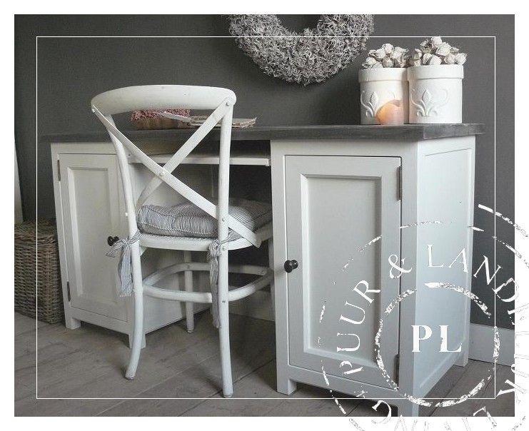 maatwerk landelijk bureau driftwood riviera white landelijke bureau s secretaire puur. Black Bedroom Furniture Sets. Home Design Ideas
