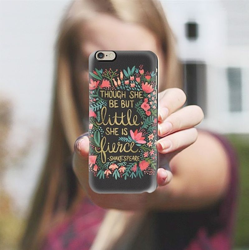 Charcoal Little and Fierce iPhone Case