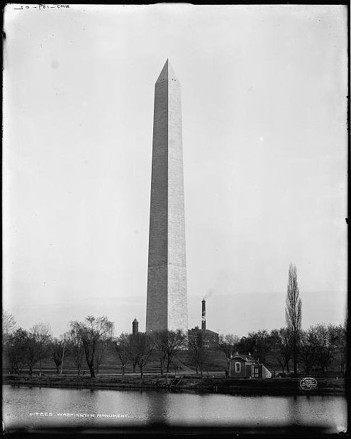 Image result for dedication of the washington monument in 1885