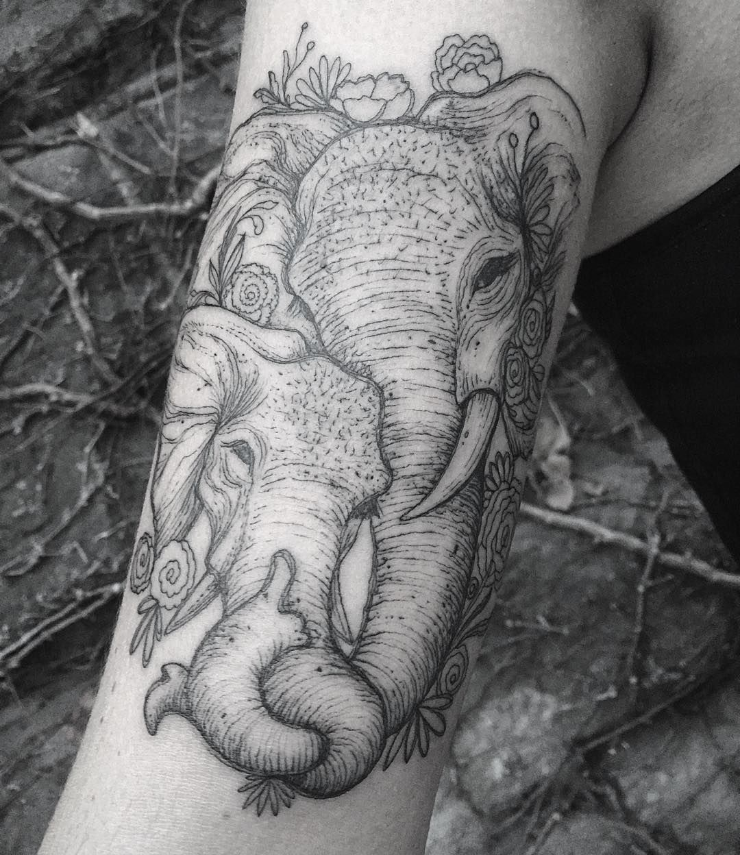 6266383d6ca55 Elephant tattoo done at LONE WOLF private studio in Columbus, Ohio ...