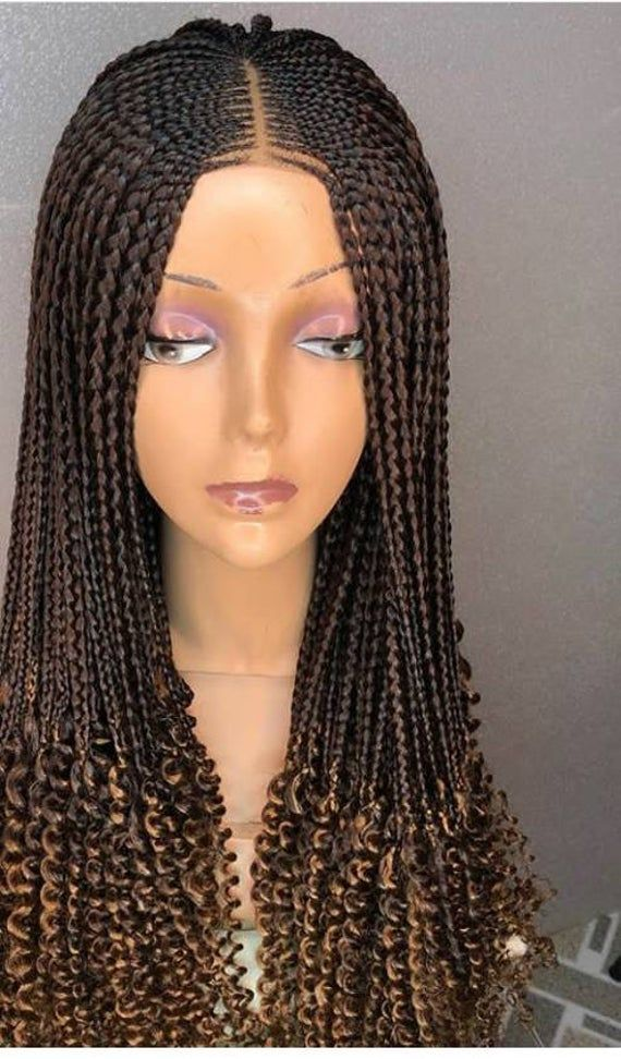 Loose Braids ,loose Box Braids,Slit corn row on box braids,Braided wig,Colored braids ,on a closure #loosebraids