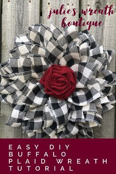 Photo of DIY burlap flower wreath / New petal and medium technology / Facebook Live Replay