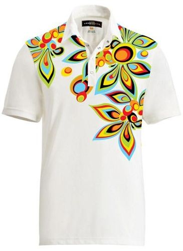 8c8d23925 Mens Golfing Shirts & Polos by Loudmouth Golf -Fancy Shagadelic White Shirt.  Buy it @ ReadyGolf.com