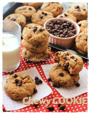 Resep Cookie Monster Chewy Chocochips Cookies Trial New Recipe Oleh Tintin Rayner Resep Resep Biskuit Makanan Ringan Manis Makanan Dan Minuman