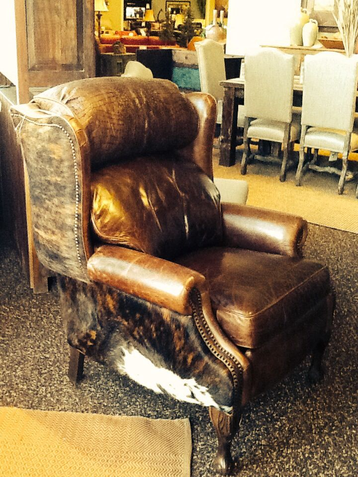 Hair On Hide Pushback Recliner From Omnia Leather Fashion Furniture Despacho