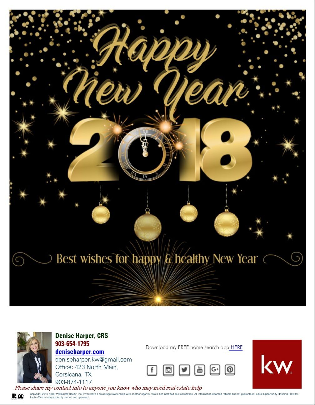 Welcome 2018 Happy New Year Corsicana Welcome 2018 Greetings