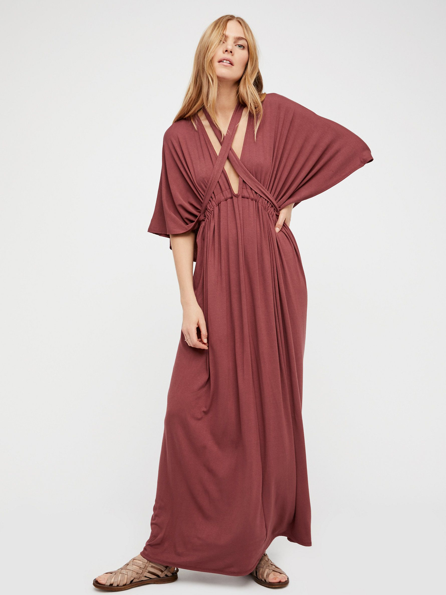 Raquel dress effortless maxi dress featuring a simple tie at the