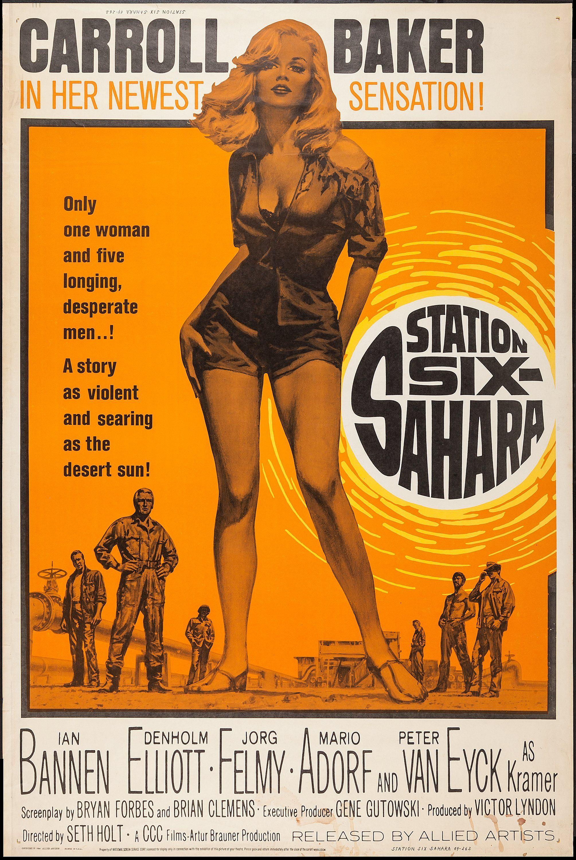 Station Six Sahara 1962 Movie Posters 1960s Movie Posters