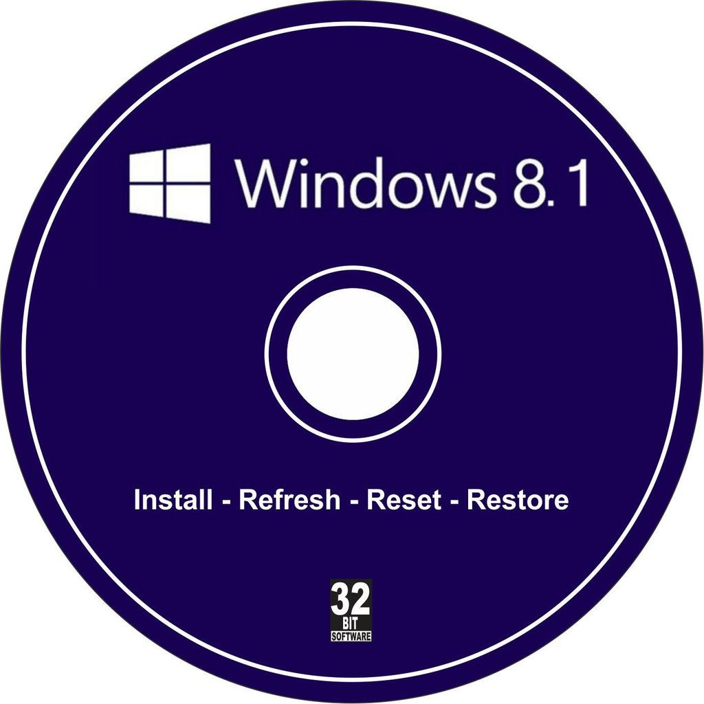 Windows 8 1 32 Bit Bootable Re Install Refresh Restore Recovery