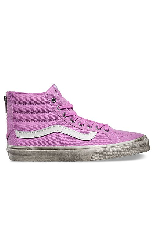 Vans Womens, Sk8-Hi Slim Zip Shoe - Overwashed Orchid - Footwear - MOOSE