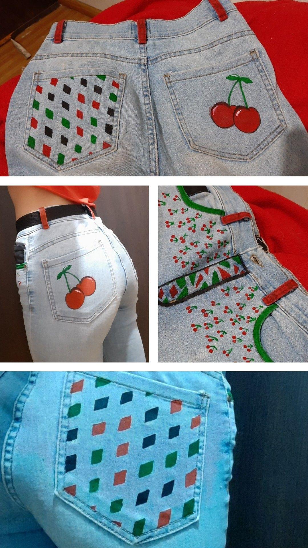 Jeans Pintado Jeans Pintados Pintura Para Ropa Confeccion De Ropa