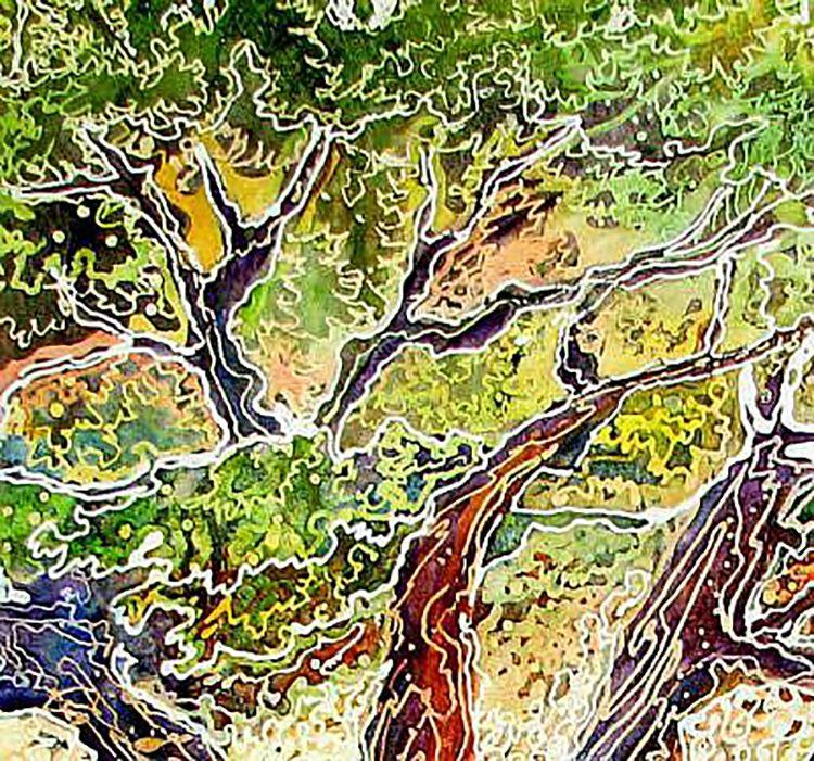 """Tree of Life Batik (detail 3)"" par Marcia Baldwin"