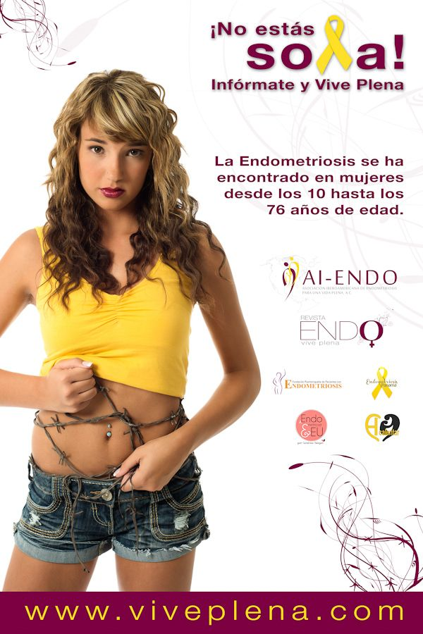 """""""La Endometriosis se ha encontrado en mujeres desde los 10 hasta los 76 anos de edad"""" ~ Endometriosis has been found in women from 10 to 76 yrs old, Model: Amber Hartl /  MUA: Emily's Backpack, More info can be found at http://www.viveplena.com/"""