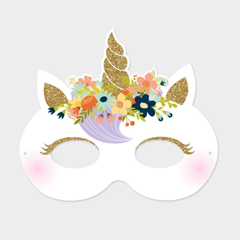 Invitation Masque Licorne Anniversaires Les Invitations