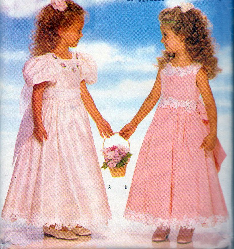 Girl's Evening Lengt Dress and Petticoat, Butterick 4310,  Short Sleeve, Sleeveless It's Enchanting Fancy Dress for Girl's Size 2,3,4, Uncut by OnceUponAnHeirloom on Etsy