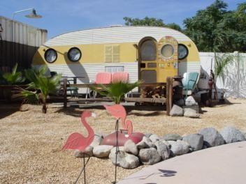 Dougs Vintage Trailers Desert Breeze Rv Park Vintage Trailers Vintage Camper Vintage Travel Trailers