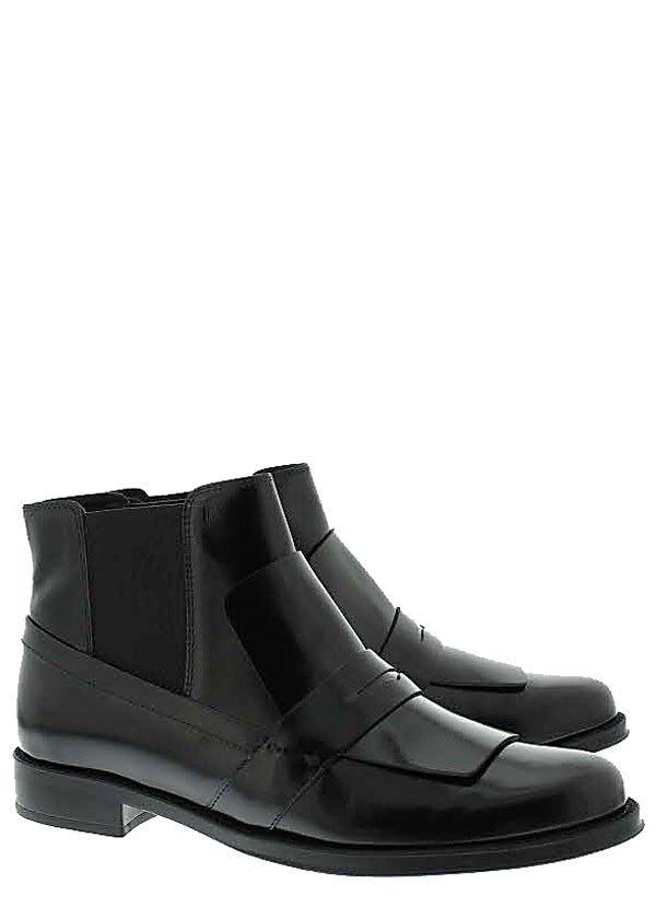 a3c53f01030 Halfhoge schoenen/enkellaarsjes van Tods, model XXW0RU0I480BHHB999 in zwart  leer