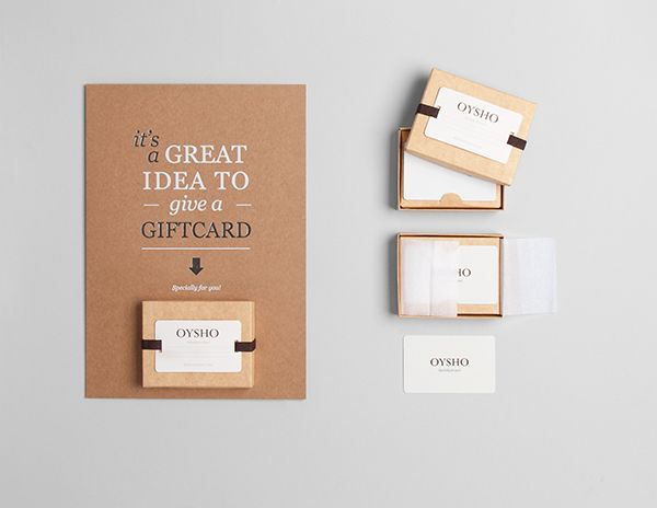 Gift card packaging design