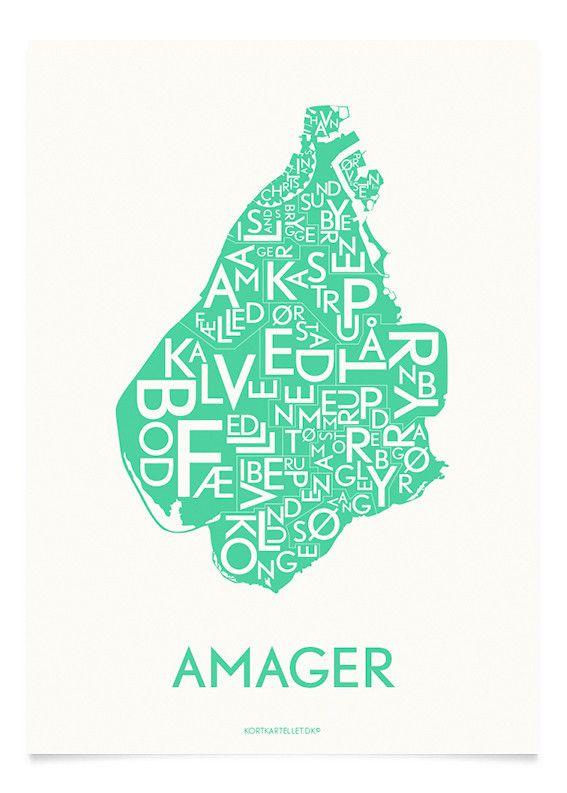 Amager Strong Mint 50x70 Cm Plakater Billeder Farver