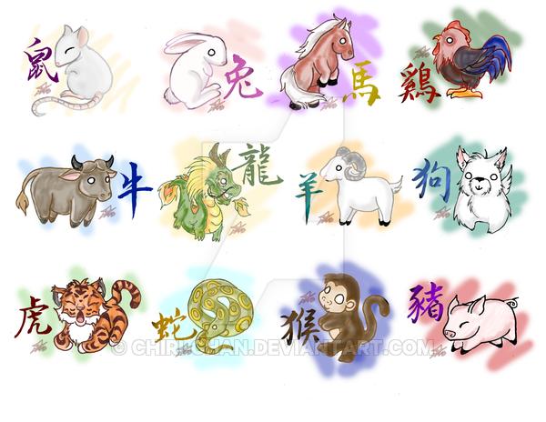 Картинки животных по гороскопу