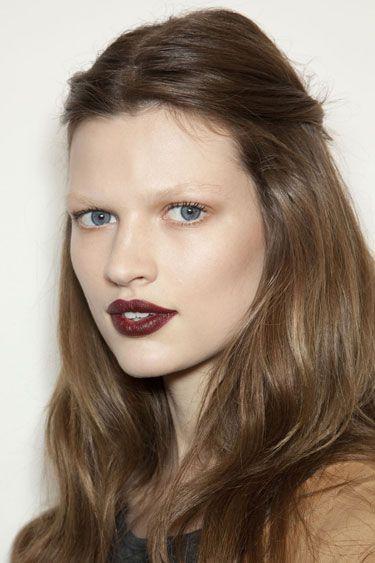 Fall 2012 Makeup Trends - Best Makeup Trends for Fall 2012 - Harper's BAZAAR  Deep Berry Lips   #Makeup #Trends #Wine