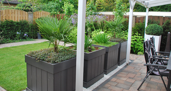 Kleine achtertuin small backyard garden ideas pinterest - Tuin exterieur ontwerp ...