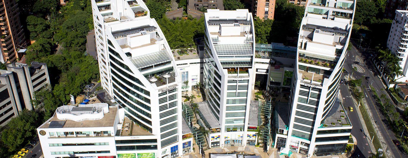 Fotografía Aérea Edificio Protección De La Andi Hotel San Fernando Plaza Medellín Comodidad