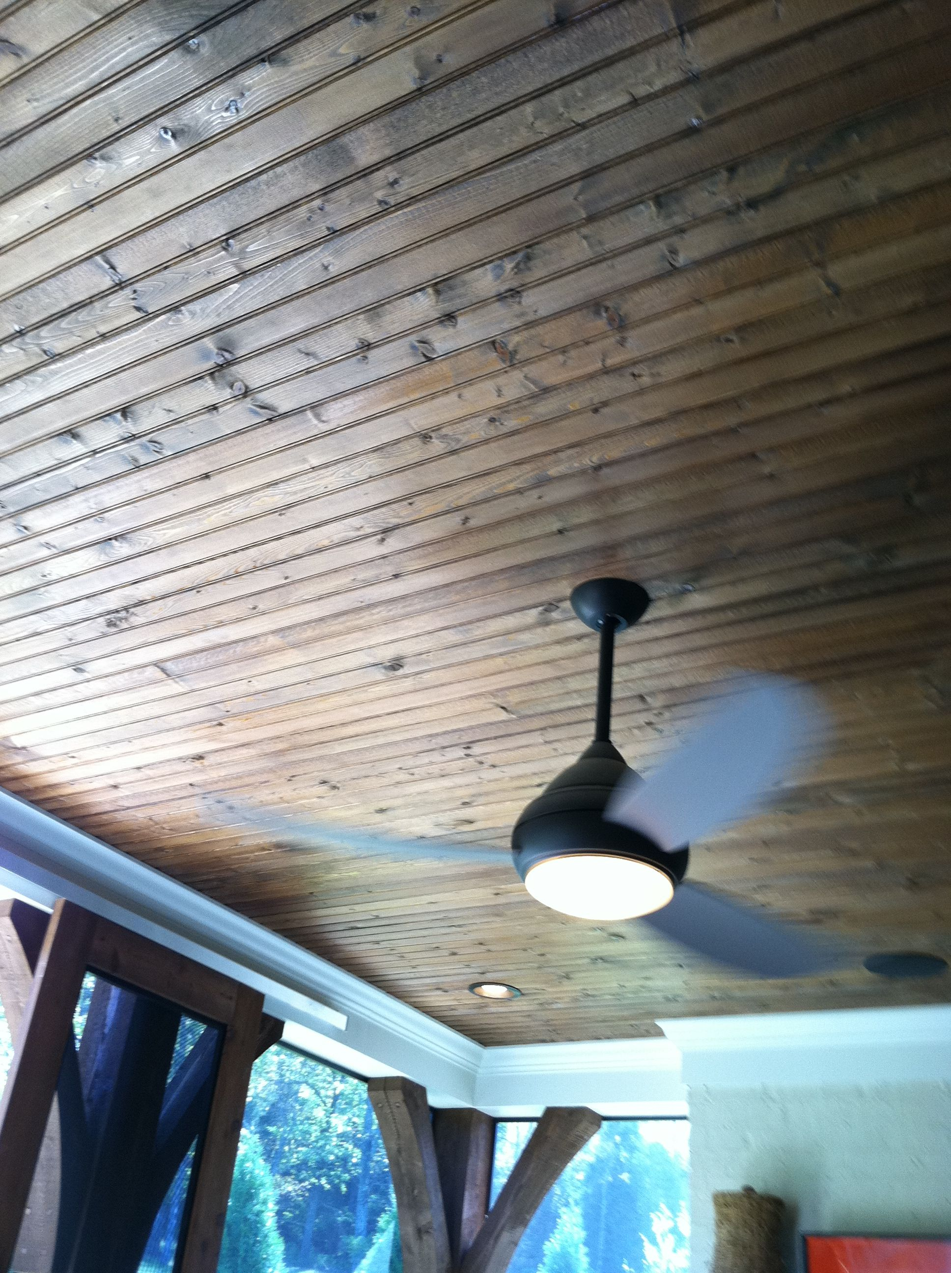 10 Rooms Featuring Beadboard Paneling: Ceiling Beadboard/paneling Sheets Stained Dark