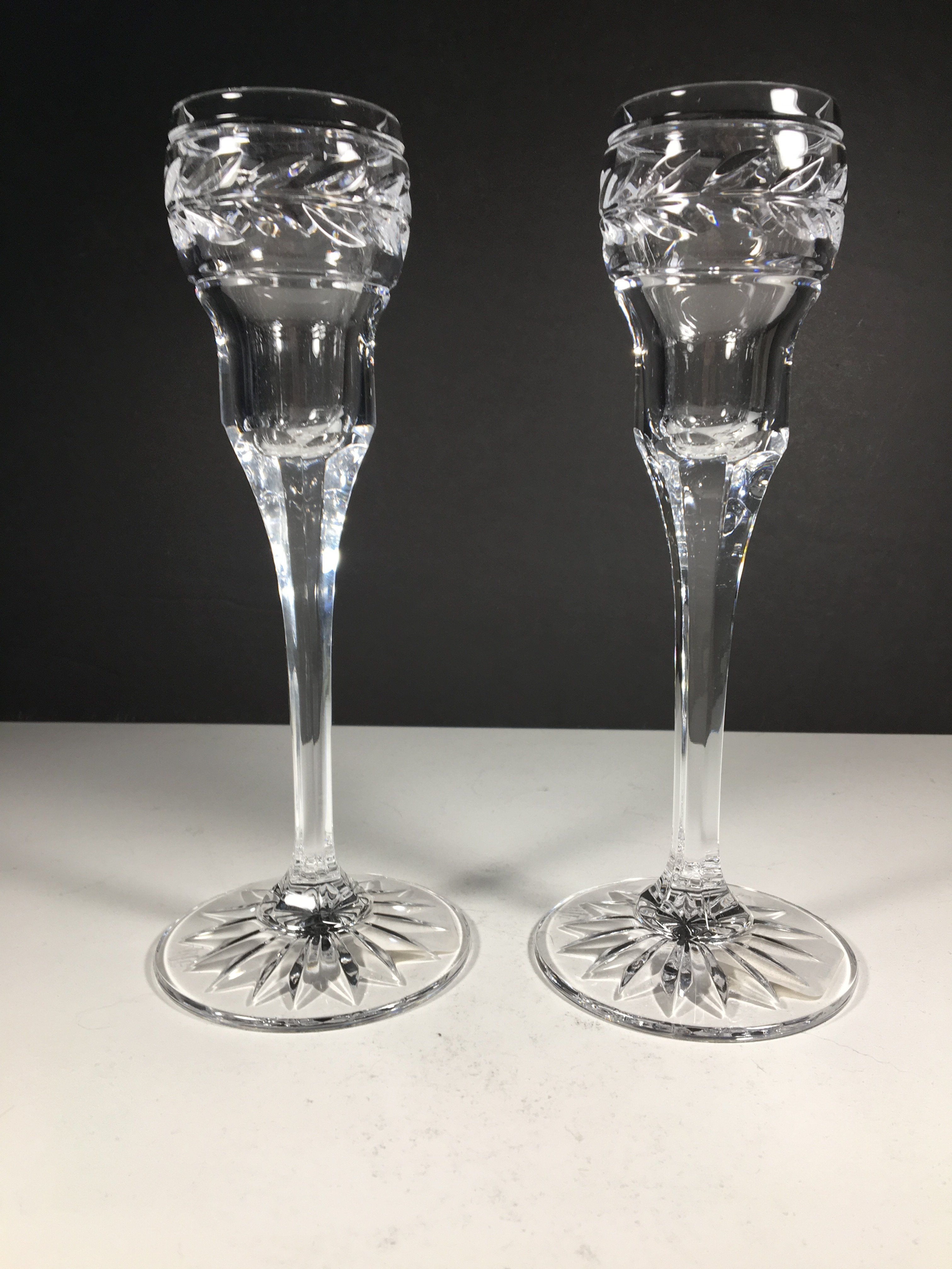 Ralph lauren crystal candlestick holders candlesticks