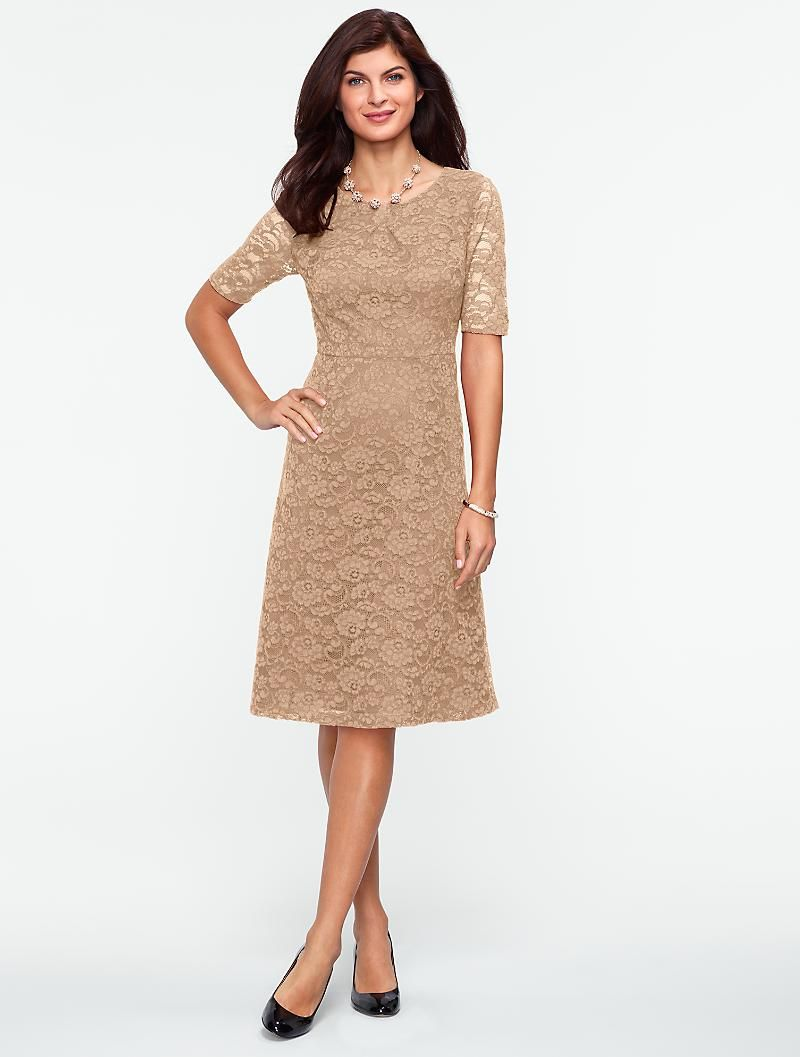 Talbots Begonia Lace Dress New Arrivals Misses