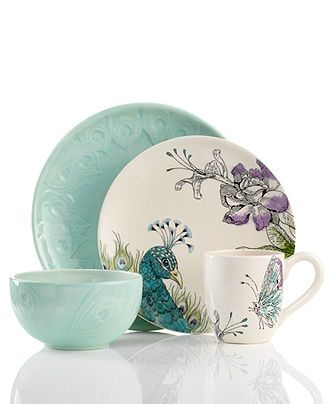 Edie Rose by Rachel Bilson Dinnerware, Peacock Collection - Casual Dinnerware - Dining & Entertaining - Macy's