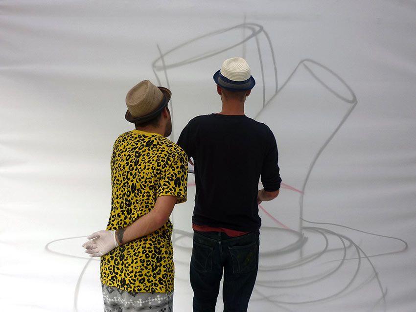 ¡Toda gran obra tiene un primer esbozo! Así comenzaba la de @okudart y @remed_art en #StreetsOfColour Toronto.