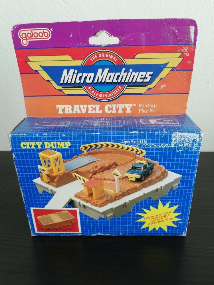 Micro Machines Travel City Fold Up Play Set City Dump Galoob 1988 Rare New Ebay City Travel Playset Folded Up