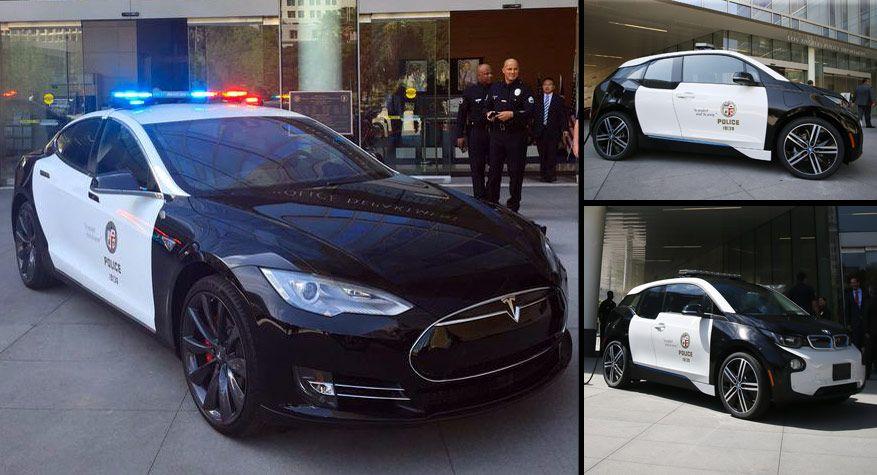 The Lapd Gets A Tesla Model S P85d And A Bmw I3 Carscoops Police Cars Tesla Car Tesla Model S