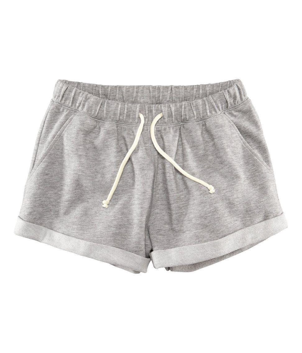 d236fb50dbe Pantalón corto de chándal gris | H&M ES | short dama | Pantalones de ...