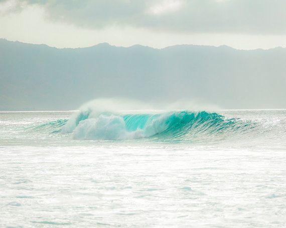 aqua wave print ocean waves wave photography bathroom decor aqua rh pinterest com Aqua Color Bathroom Aqua Bathroom Paint