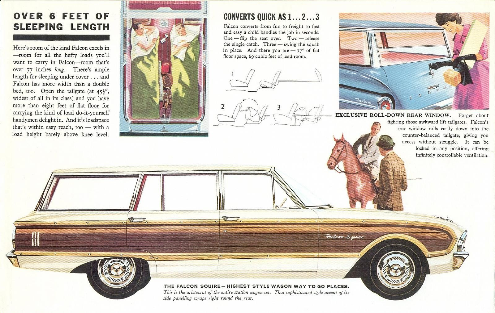 1963 Ford Falcon Wagon Ad Ford Falcon Car Advertising Car Ads
