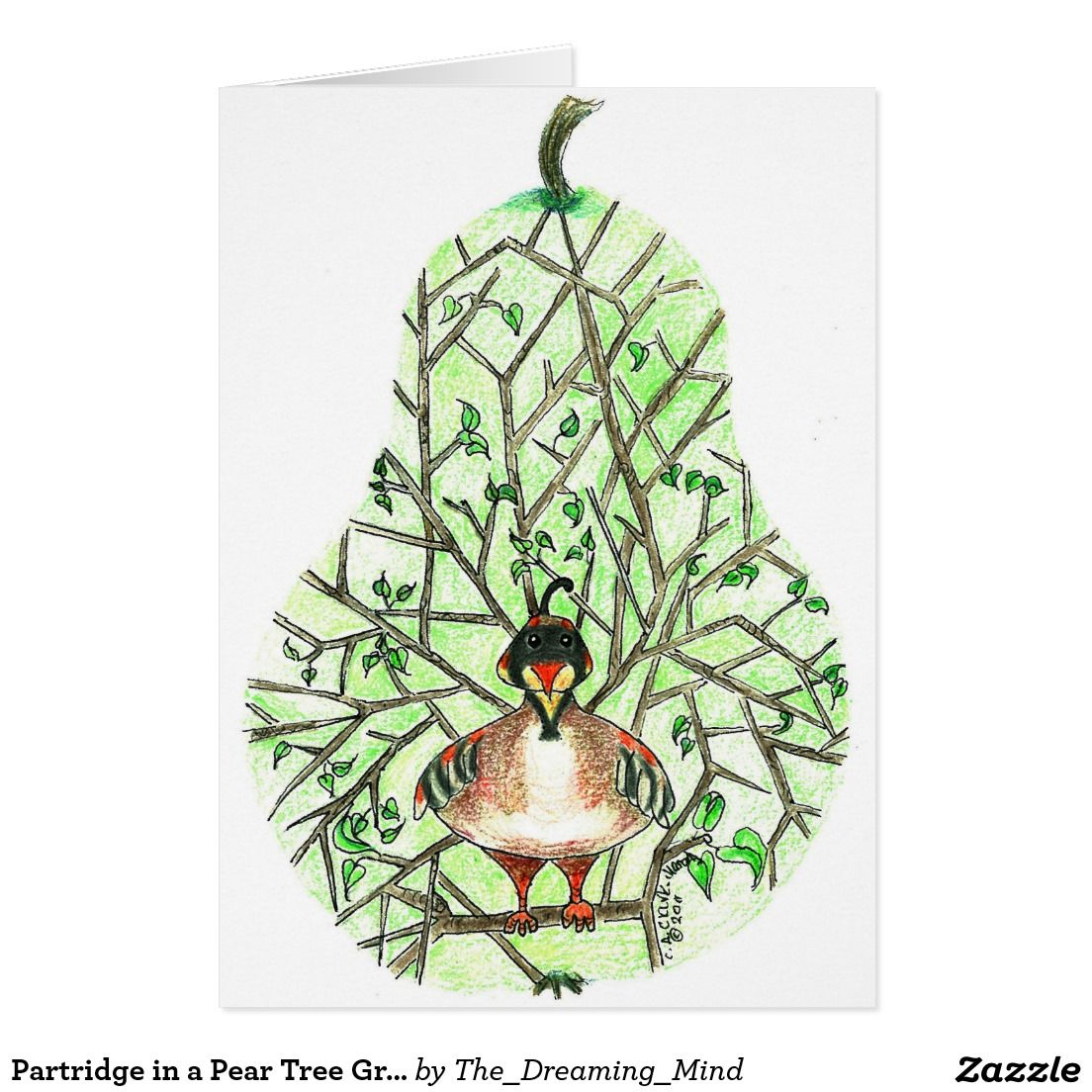 Partridge in a Pear Tree Greeting Card | Zazzle.com | Holiday design card, Greeting cards, Cards