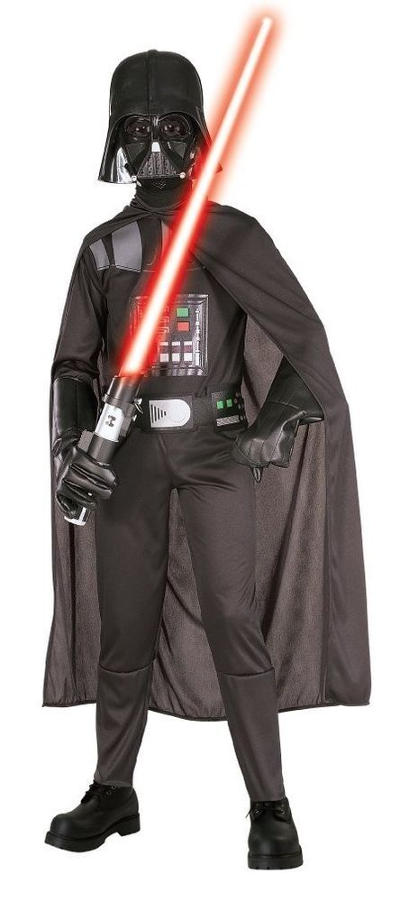 halloween darth vader boys costume star wars edition suit mask sz medium new suit - Halloween Darth Vader